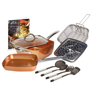 Tristar Products Copper Chef Cookware Set