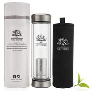 UEndure Glass Tea Travel Mug