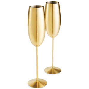 VonShef Gold Champagne Glasses