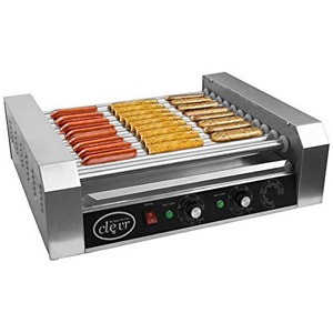 clevr commercial hot dog grill cooker
