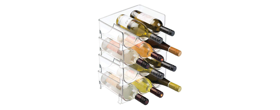 mDesign Modern Vertical Standing Wine Rack