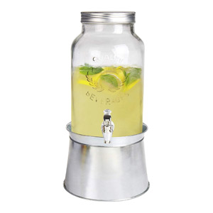 Estilo 1.5 gallon Glass Mason Jar Beverage Drink Dispenser