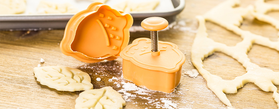 decorative pie crust cutters on the table