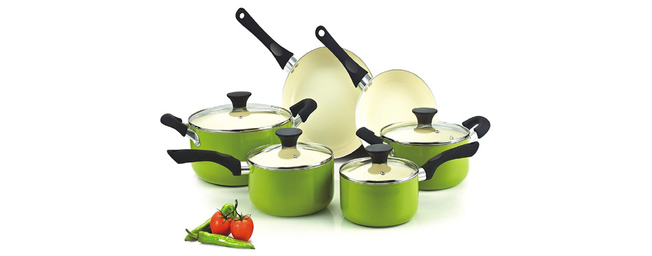 Cook N Home Nonstick Ceramic Coating Cookware Set