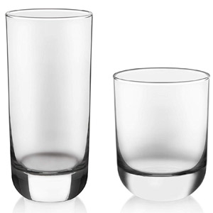 Libbey Polaris 16-Piece Tumbler and Rocks Glass Set