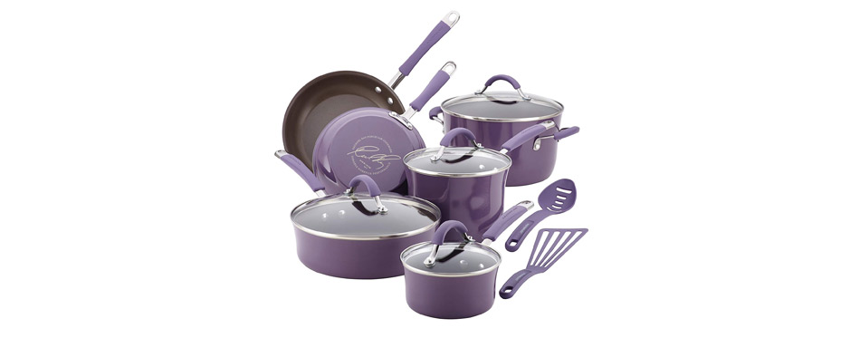 Rachael Ray 16783 Cucina Nonstick Cookware Pots and Pans Set
