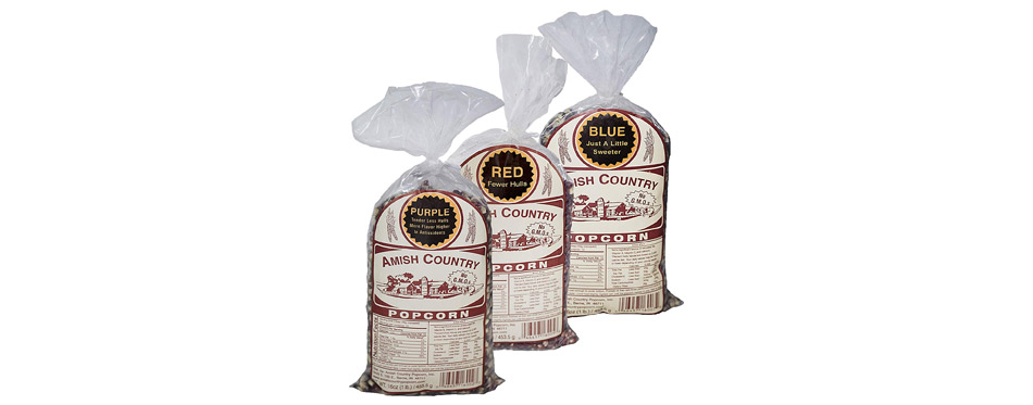 Amish Country Popcorn Blue and Red Kernels