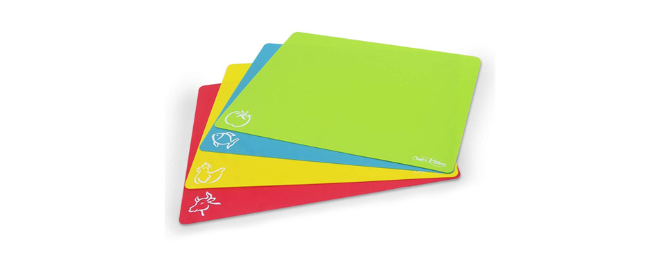 Cooler Kitchen Flexible Plastic Cutting Board