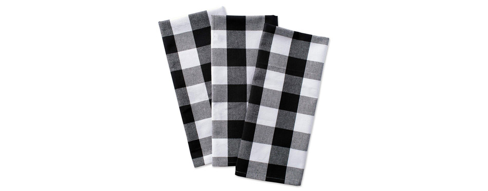 DII Cotton Buffalo Check Plaid Kitchen Towels