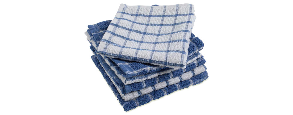 DII Cotton Terry Windowpane Kitchen Towels
