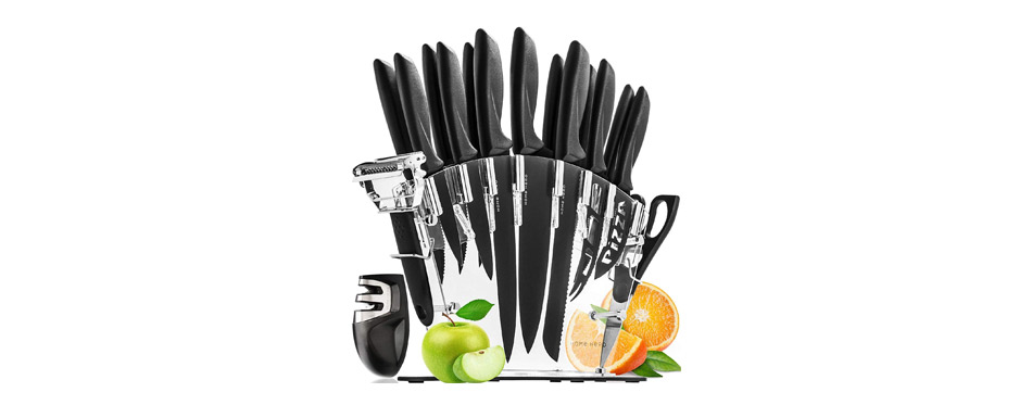 Home Hero Kitchen Knife Set with Block