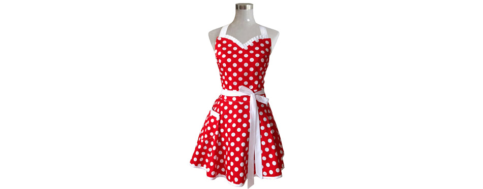Hyzrz Lovely Sweetheart Red Retro Kitchen Apron