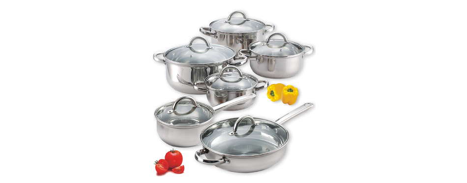 Cook N Home Stainless Steel Cookware Set