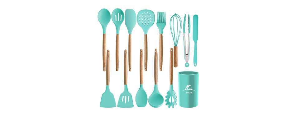 MIBOTE Silicone Cooking Kitchen Utensils Set