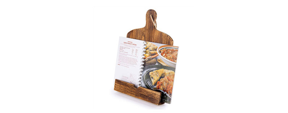 MyGift Cutting Board Style Cookbook Holder