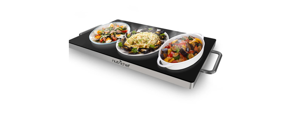 NutriChef Stainless Steel Warming Tray