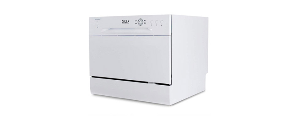 DELLA Mini Compact Countertop Dishwasher