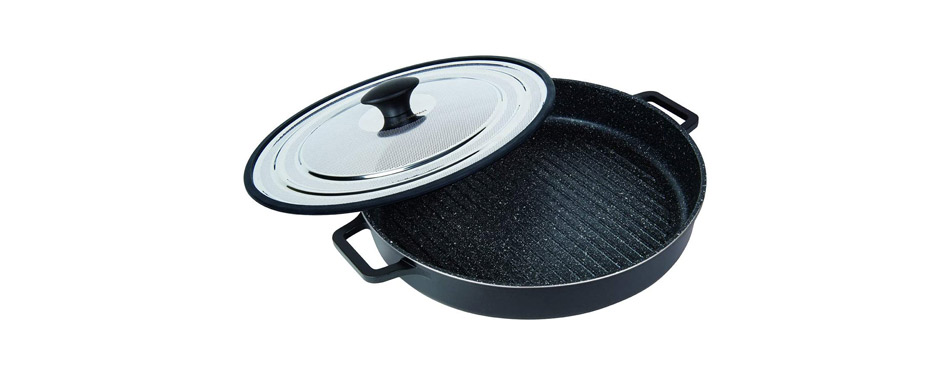 MasterPan Non-Stick Stovetop Oven Grill Pan