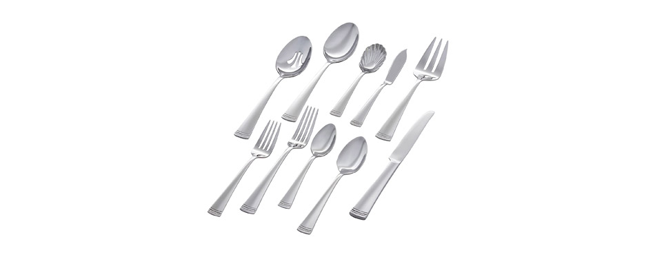 Stone & Beam Traditional Stainless Steel Flatware Set