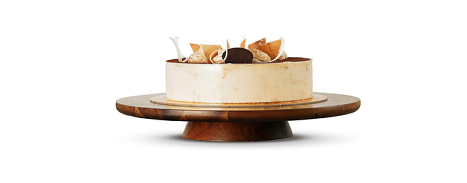 Wood Cake Stand Turntable
