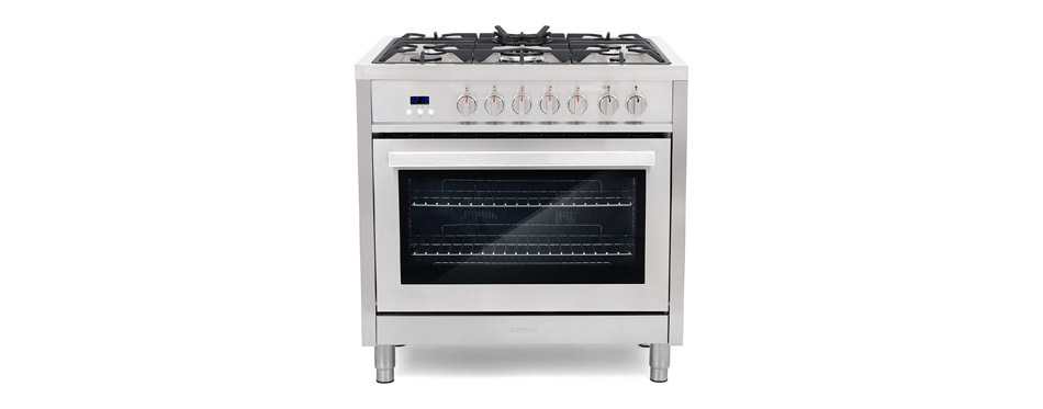 Cosmo F965 36-Inches Dual Fuel Gas Range