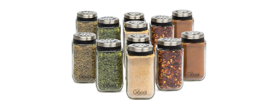 Good Cooking Adjustable Glass Spice Jars