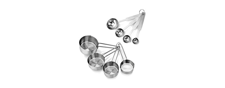 New Star Foodservice Stainless Steel Measuring Cups and Spoons