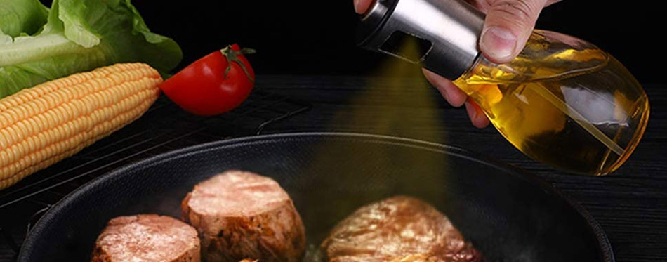 Olive Oil Sprayer and Meat