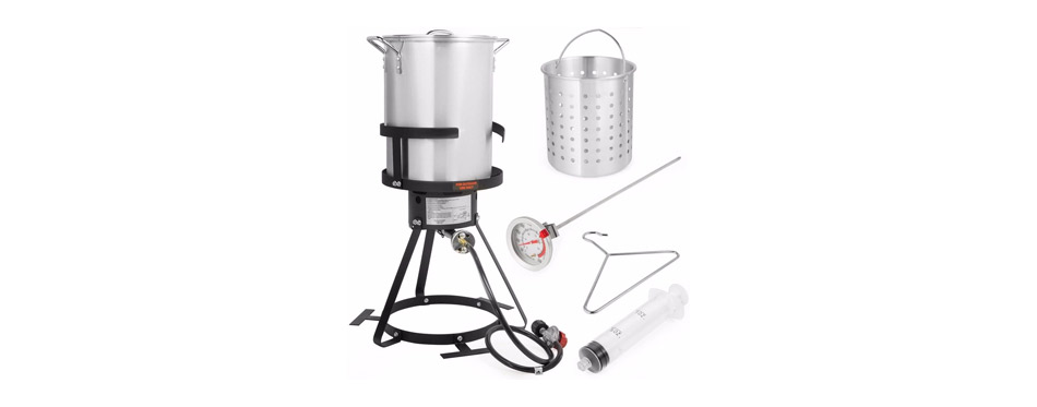 Stark Deluxe Aluminum Turkey Deep Fryer Pot