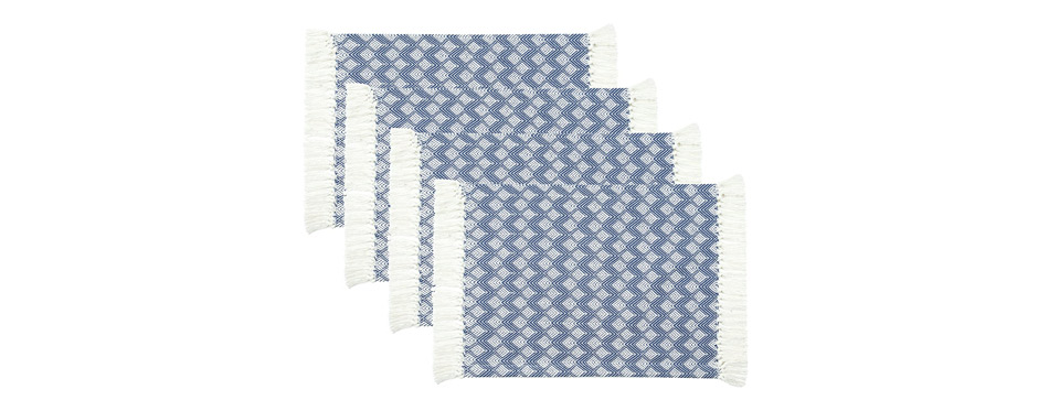 Sticky Toffee Cotton Woven Placemat Set