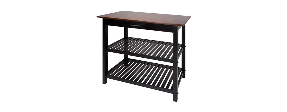 Casual Home Kitchen Island with Solid American Hardwood Top